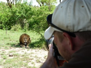 Niels mogensen photographing lion