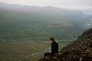 ME sitting on a cliff