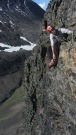 Climbing the sillhouette with Isaac Doude Van Troostwijk, friend from Kebnekaise