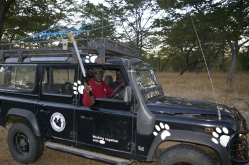 "Out ""dogging"" with Jelaous and Edward, our Zimbabwian fellows"