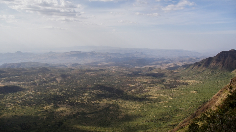 "The view from ""viewpoint"", with the lowland where the Pokot people live"